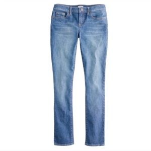 J.Crew Stretch Toothpick Jeans in Sea Blue